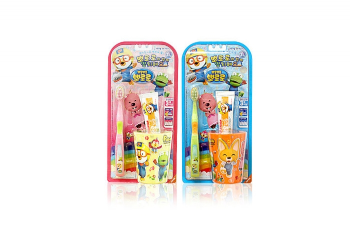 PORORO brushing teeth cup SET (brush 1p + cup 1 + mini toothpaste 1)
